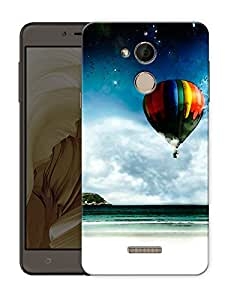 """Humor Gang hot air balloon and beach Printed Designer Mobile Back Cover For """"coolpad Note 5"""" (3D, Matte Finish, Premium Quality, Protective Snap On Slim Hard Phone Case, Multi Color)"""