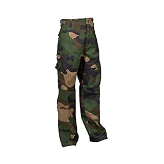 Robuste + Komfortable US Style Kinder Jungen Mädchen Rangerhose Freizeithose Kampfhose viele verschiedene Farben S-XXXL (XXL (170/176), Woodland)