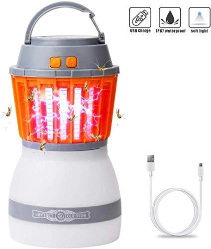 Rhino Valley LED UV Lámpara contra Mosquitos [Version Más Nueva], 2 EN 1 Linterna Acampada Asesino...