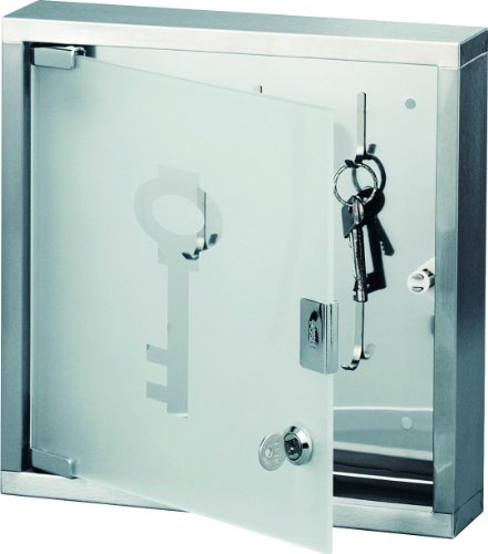 zeller-13890-appendichiavi-in-vetro-e-acciaio-inox-30-x-6-x-30-cm