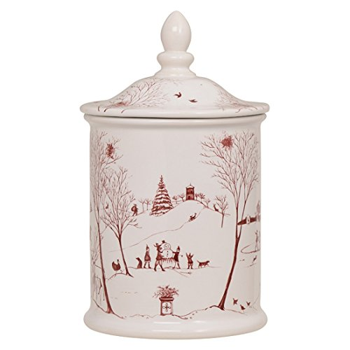 Juliska Country Estate Cookie Jar Winter Frolic Ruby