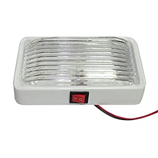 Other LED-Lampe, 12 V, Innenraumbeleuchtung für Wohnwagen und Wohnmobil, LKW, Auto, Boot, Dach, eckig, kuppelförmig, Weiß, 1 Stück