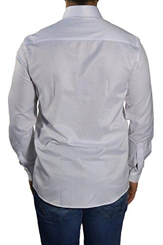 MUGA Homme Chemise à manches longues Blanc