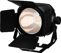 IMG STAGELINE PARC-100E/WWS COB-LED Scheinwerfer, Spotlight mit 5 unterschiedlichen Dimmerkurven inklusive Torblende, in Schwarz