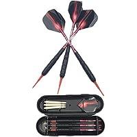SWAMPLAND 3 Stück Soft Tip Dartpfeile Set für Elektronische Dartscheibe mit Hard Box Case, Aluminium Schaft, Standard PET Flights, 19g