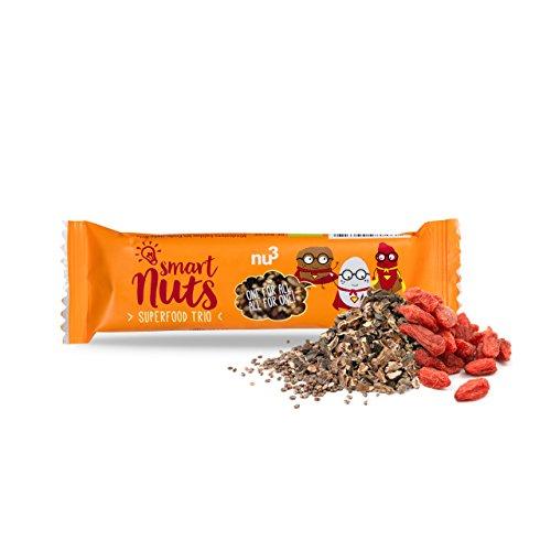 io Riegel, 15 x 40 g - Der leckere Superfood-Riegel als Oatsnack - Vegane und gesunde Süßigkeiten mit Chia-Samen, Goji-Beeren und Kakao-nibs ()