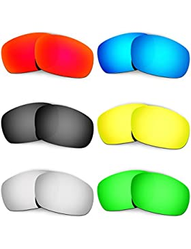 Hkuco Mens Replacement Lenses For Oakley Jawbone (Asian Fit) Red/Blue/Black/24K Gold/Titanium/Emerald Green Sunglasses
