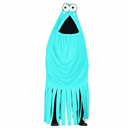 Imagen de disfraz monstruo adulto traje completo bestia azul l 42/44 overol calamar turquesa atuendo completo kraken celeste vestido carnaval llamativo vestimenta original