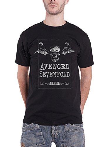 Death-band-t-shirts (Avenged Sevenfold T Shirt Face Card Death Bat band logo Nue offiziell Herren)