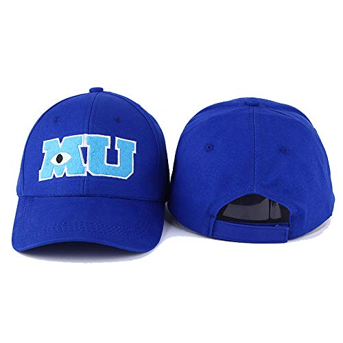 Imagen de mdkz  voron 2017 nueva marca pixar movie monsters university sulley mike mu letras béisbol sombrero azul  de béisbol vestidos de una pieza alternativa