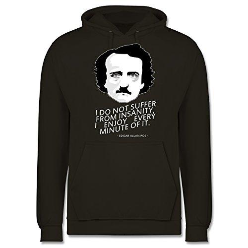 Statement Shirts - Edgar Allan Poe - I do not suffer from insanity, I enjoy every minute of it - Männer Premium Kapuzenpullover / Hoodie Olivgrün