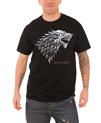game-of-thrones-t-shirt-chrome-stark-house-wolf-logo-offiziell-herren-nue