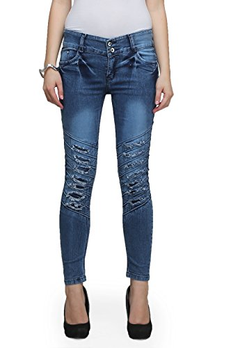 Miss Wow Signature Collection Denim Jeans for Women (BLU2002_BLUE_30)