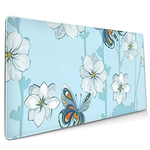Große Gaming-Mausunterlage Schmetterlinge Rutschfestes Gummi Verdicken 3 mm Tastatur-Mauspad Mousepad 40 x 75 cm