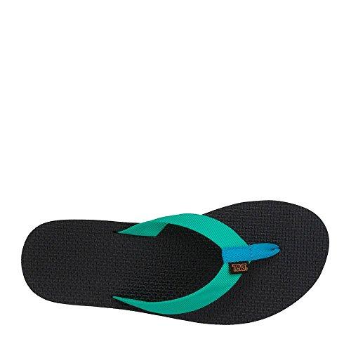 Teva Original Flip Damen Textile Badesandalen Green/Blue