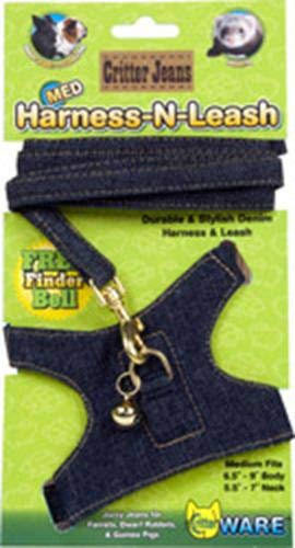 Ware Critter Jeans Medium Animal Harness-n-Leash -