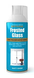 400ml Frosted Glass