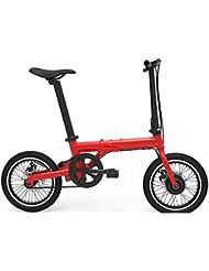 HuanLeBao 16 pulgadas de coche eléctrico plegable de coches Mini eléctrica de litio eléctrica Scooter Dos de unidad redonda en nombre de la bicicleta portátil , Red