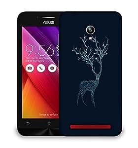 Snoogg Neon Deer Designer Protective Back Case Cover For ASUS ZENFONE GO
