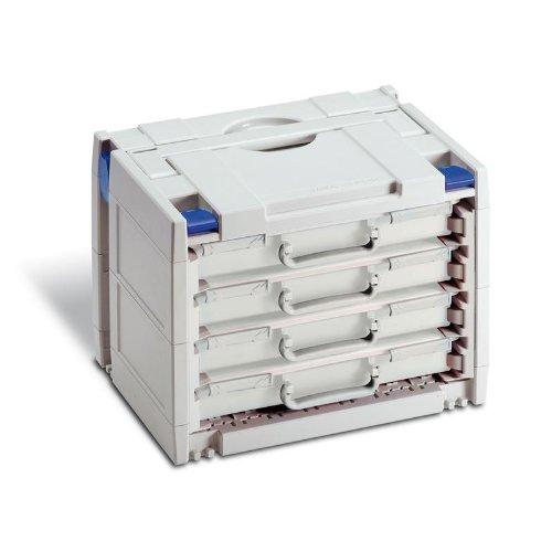 Preisvergleich Produktbild TANOS-Rack-systainer IV - Lichtgrau mit blauen Verschluss