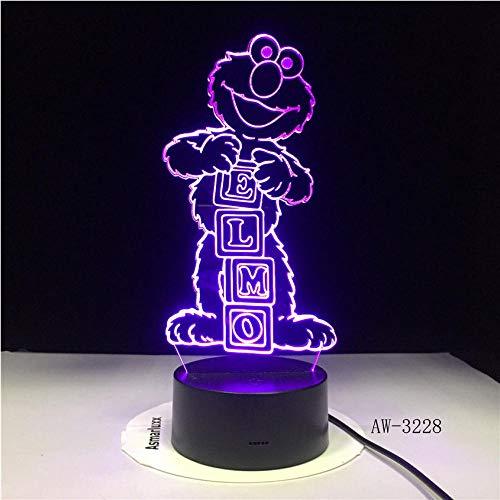 Elmo Geburtstag Dekorationen - Ganjue 3D Illusion Lampe Sesame Street