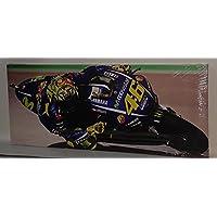 Valentino Rossi Moto GP Racing estirada y montados Lienzo Impreso, nuevo
