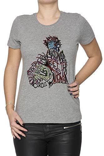 Erido Descubrimiento Mujer Camiseta Cuello Redondo Gris Manga Corta Tamaño L Women's Grey T-Shirt Large Size L