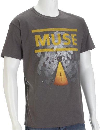 "Tee Shirt Noir Homme Muse ""Faded Uprising"" Taille Grün"