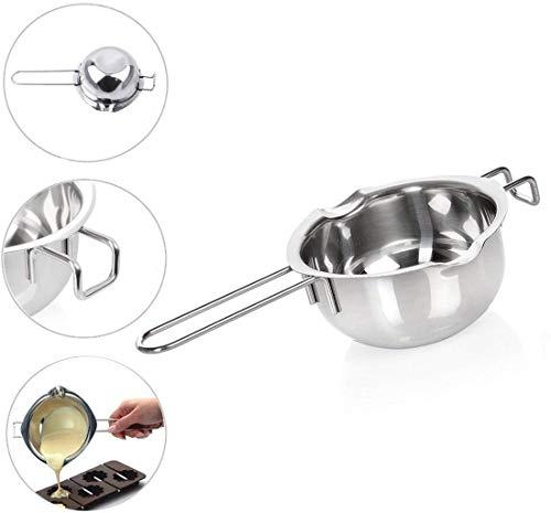 Milopon Wasserbad Schmelzschale Schokolade Schmelzen Topf Edelstahl Schüssel mit Griff zum Schmelzen Schmelztopf Beheizte Butter Käse Creme Küche Backen Werkzeuge