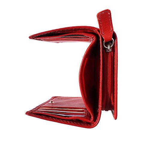 PORTAFOGLIO RINA IN VERA PELLE MORBIDA PF060 (Cuoio) Rosso chiaro