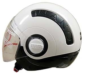 Studds HE1271 Open Face Nano 560 Helmet (White:Black_Small)