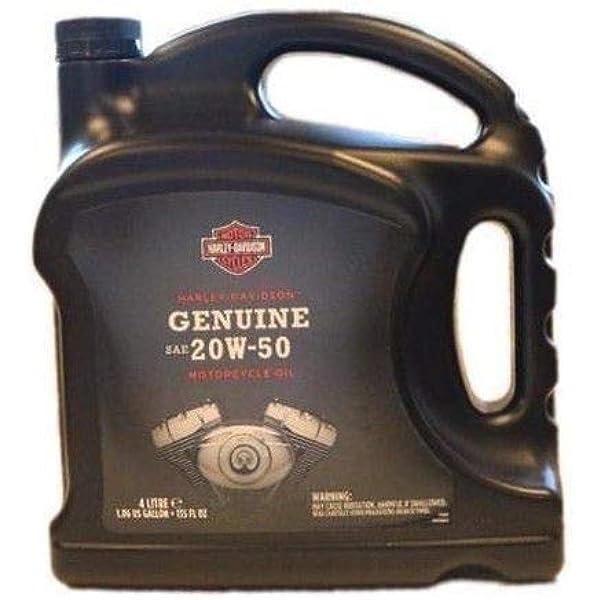 Harley Davidson 360 Motoröl 4 L Genuine Sae 20w 50 Motorrad Öl Für Umgebunsgtemperaturen Von 60 80 F 16 27 C Motorenöl Schmiermittel Auto