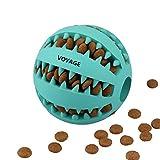 Voyage Hundespielzeug Ball Natur-Gummi Hunde Spielzeug mit Dental Zahnpflege Funktion 7cm (Minze)