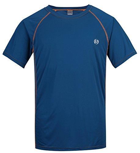 HARD LAND Dry Sport Shirt Herren Polyester Training Fitness T- Shirt Laufhemd Blau Größe XXXXL -