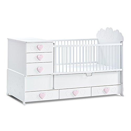 *Mitwachsendes Babybett Little Princess mit absenkbarem Seitengitter von Mixibaby*