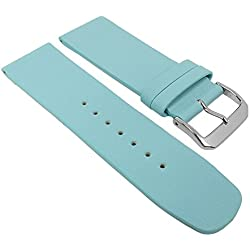 Graf Manufaktur Spree Replacement Watch Strap Leather Band Women's light blue 27100S; Bridge Width: 26 mm