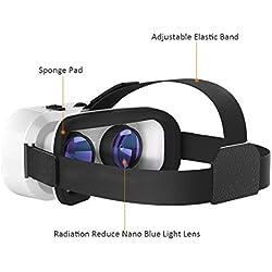 VR Brille, Hotweild VR Headset 3D VR Brille Virtuelle Realität Brille Headset 360-Grad-Panorama mit einstellbaren Linsen Passend für fast allen Arten (4,7-6 Zoll) Smartphones (Android, IOS Microsoft)