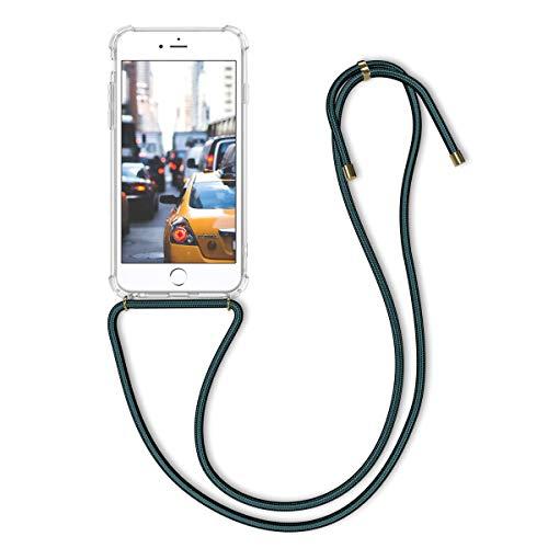 kwmobile Apple iPhone 6 Plus / 6S Plus Hülle - mit Kordel zum Umhängen - Silikon Handy Schutzhülle für Apple iPhone 6 Plus / 6S Plus