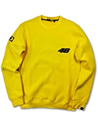 Valentino Rossi vr|46MotoGP Mens amarillo 2002–01–Jersey con cuello redondo para mujer, hombre, amarillo