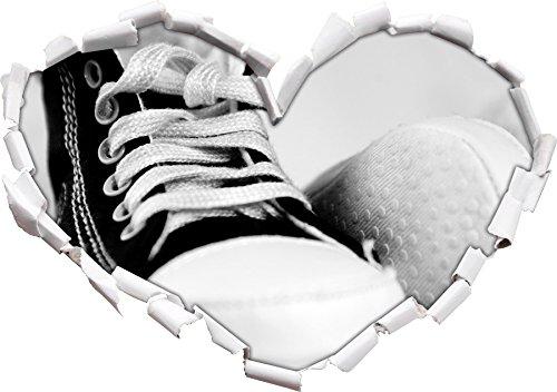 Converse All Stars scarpe forma di cuore in formato sguardo 4bd96591f2f