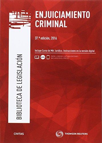 Enjuiciamiento Criminal (37 ed. - 2016) (Biblioteca de Legislación)