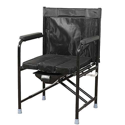 Aly Silla De Inodoro PortáTil Que 220 Libras HigiéNico Plegado De Cabecera De Hierro con Bolsa De Almacenamiento, Adecuado para Los Ancianos, Mujeres Embarazadas, Personas con Discapacidad