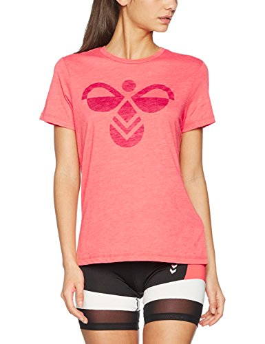 hummel Damen Classic Bee Fauna SS Tee T-Shirt, Deep Sea Coral, XS