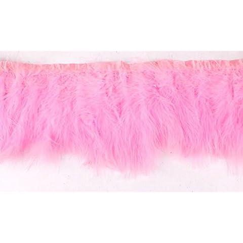 Rosa Fluffy Marabou con piume 15–18cm per