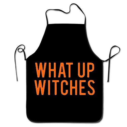 LarissaHi was Up Hexen Halloween Koch Schürze, Männer & Frauen Lätzchen Schürze zum Kochen, Backen, Basteln, Gartenarbeit, Grillen -