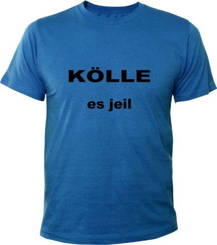 Mister Merchandise Cooles Fun T-Shirt Kölle es jeil Royalblau