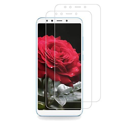 XSWO Cristal Templado Xiaomi Mi A2 [2 Unidades], Protector Pantalla Xiaomi Mi A2, [Cobertura pantalla completa] [Fácil Instalar] [Anti Huella Digital] [Anti rotura] [Sin Burbujas] Vidrio Templado