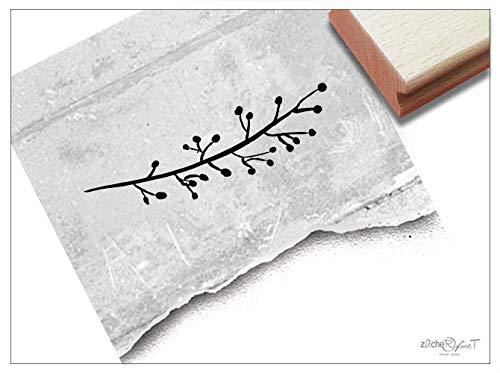 Stempel Motivstempel Blätter-RANKE III Zweig - Bildstempel für Karten Etiketten Basteln Scrapbook Bullet Stamp Tischdeko Deko Geschenk - zAcheR-fineT