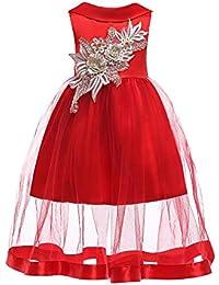 55a23ca84 QZ Vestidos de niña de Flores Moda de Verano Vestido de los niños Bowknot  Cinturón Vestidos