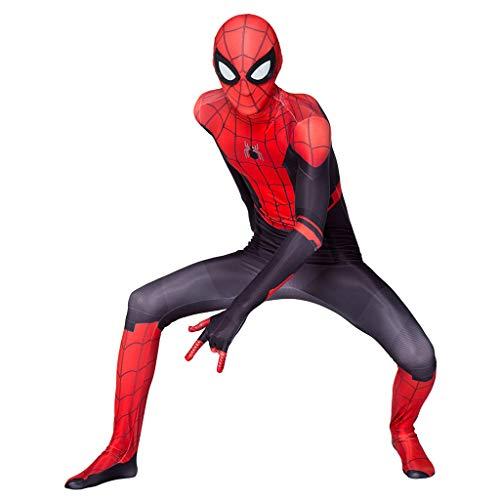 Superhelden Comics Weibliche Kostüm - Spiderman Halloween Party Overall Bodysuit Kostüm Film Fans Parteien Cosplay Unterhaltung Maskerade Strumpfhosen 3D-Druck Comics Kleidung,Rot,XXL